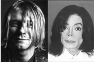 Jackson mugshot -- public domain; Cobain head shot by Elena M. at http://diccionariperaociosos.wikispaces.com/IMMORTALITAT, published under Creative Commons license at http://www.creativecommons.org/licenses/by-sa/2.5