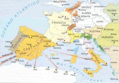 Mapa Europa y Península Italiana en el Renacimiento   historia2