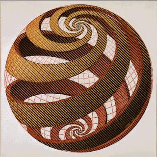 Escher: Espirales Esféricas, 1958