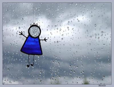 Рисунок на мокром стекле.