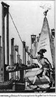 Robespierre demonstrating his guillotine