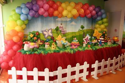 decoração infantil balão tema primavera