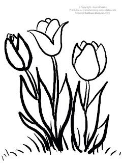 Dibujos Para Imprimir Y Colorear Dibujo De Tulipanes Para Imprimir Y Colorear