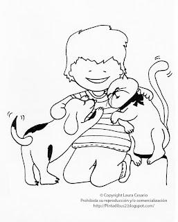 Dibujos Para Imprimir Y Colorear Dibujo De Un Niño Jugando