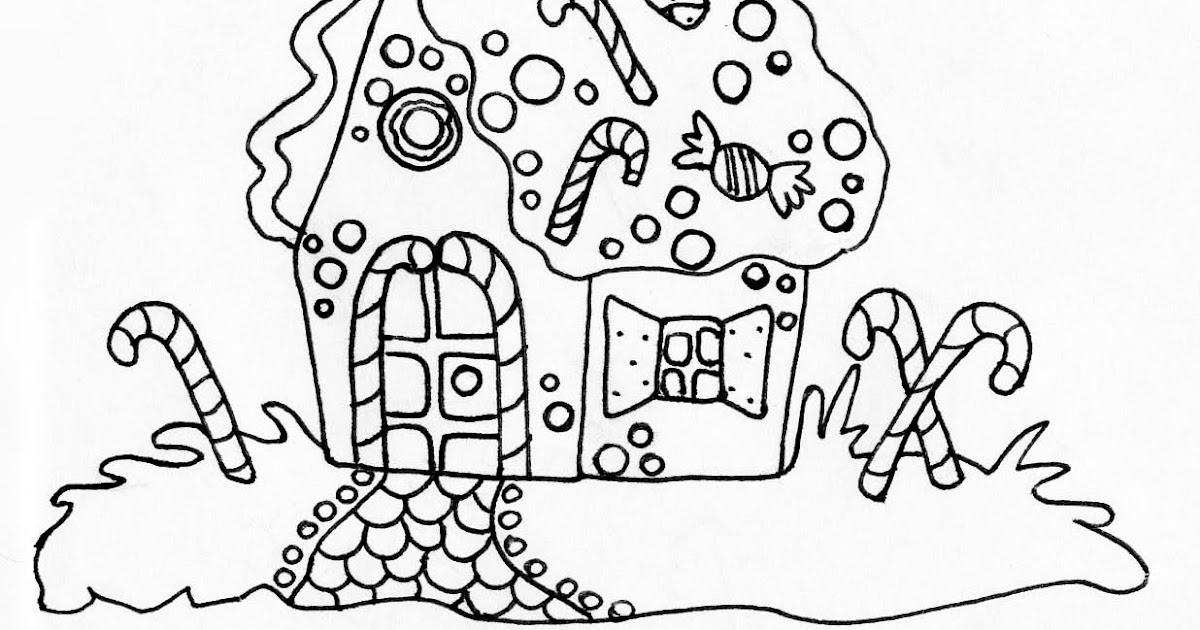 Dibujos para imprimir y colorear: Dibujo de la casita de