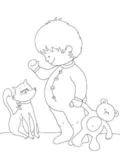Dibujos Para Imprimir Y Colorear Dibujo Para Colorear De Bebé En
