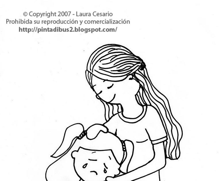 Dibujos De Niña Para Colorear E Imprimir: Dibujos Para Imprimir Y Colorear: Dibujo Para Imprimir Y