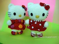 Мастер-класс по вязанию амигуруми Hello Kitty.  Прочитать целикомВ.