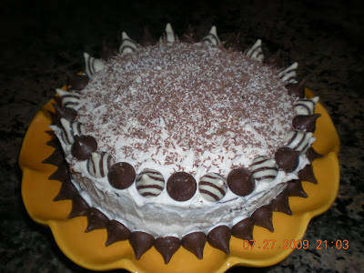 Wholesome Feasts Hershey Kisses Birthday Cake