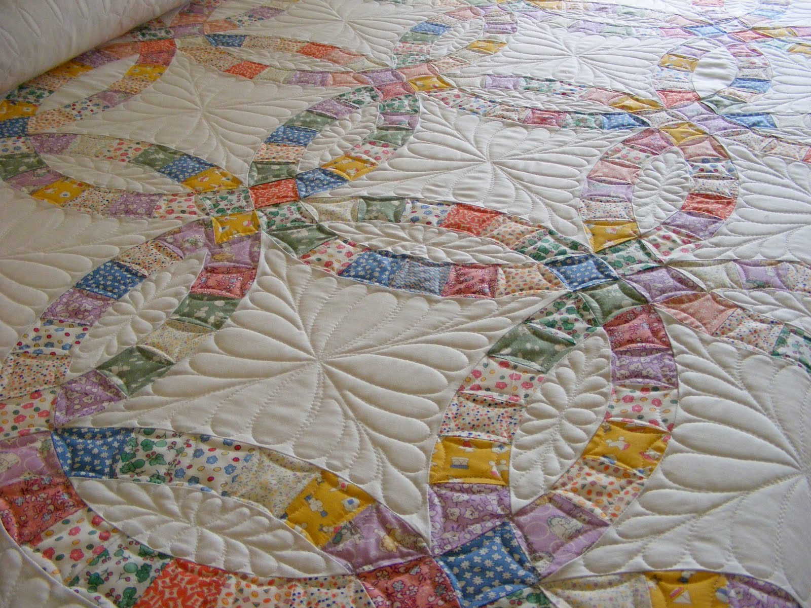 melon patch quilts: double wedding ring quilt