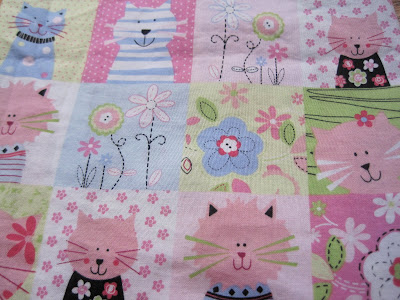 Cute cat fabric for your project