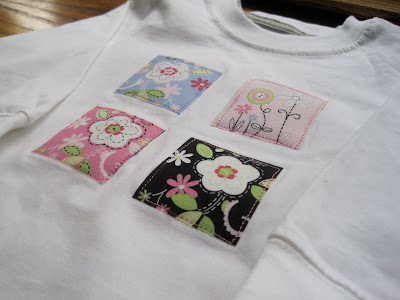 Appliqued baby clothes