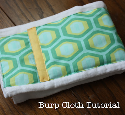 Perhaps the easiest burp-cloth tutorial ever.
