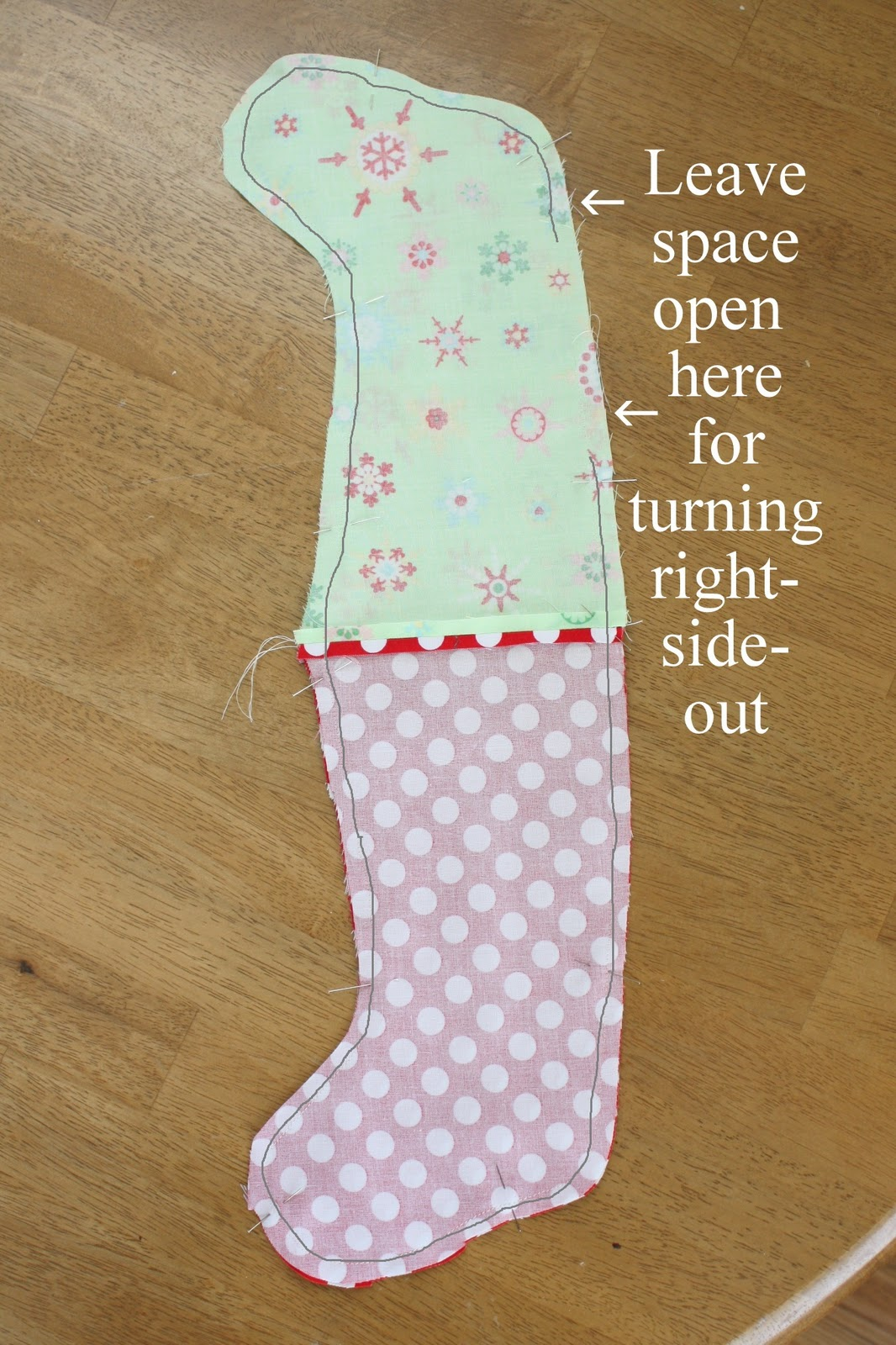 Easy diy stocking tutorial easy stocking tutorial jeuxipadfo Gallery