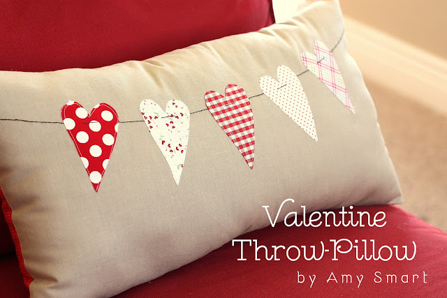 Valentine Throw Pillow Tutorial
