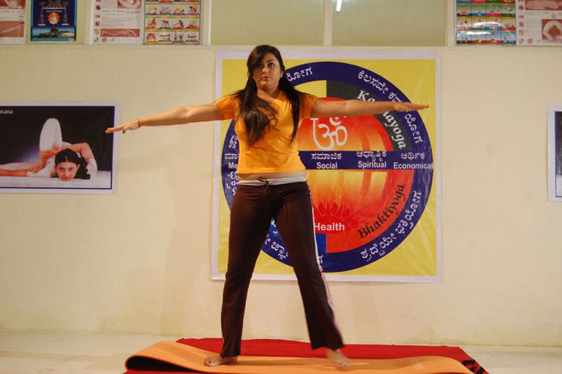 Actress Namitha Hot Pics - Yoga Posereadtosee
