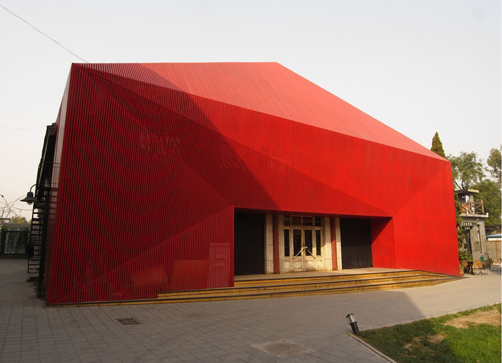 Architecture Building of Red Diamond Dance Theater by Chiasmus Partners