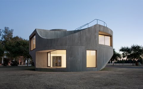 Minimalist Concrete House Design in Argentina by Johnston Marklee