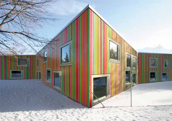 Monthey Kindergarden Building by Bonnard Woeffray Architectes