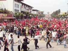 Church-goers caught up in Nepal's general strike