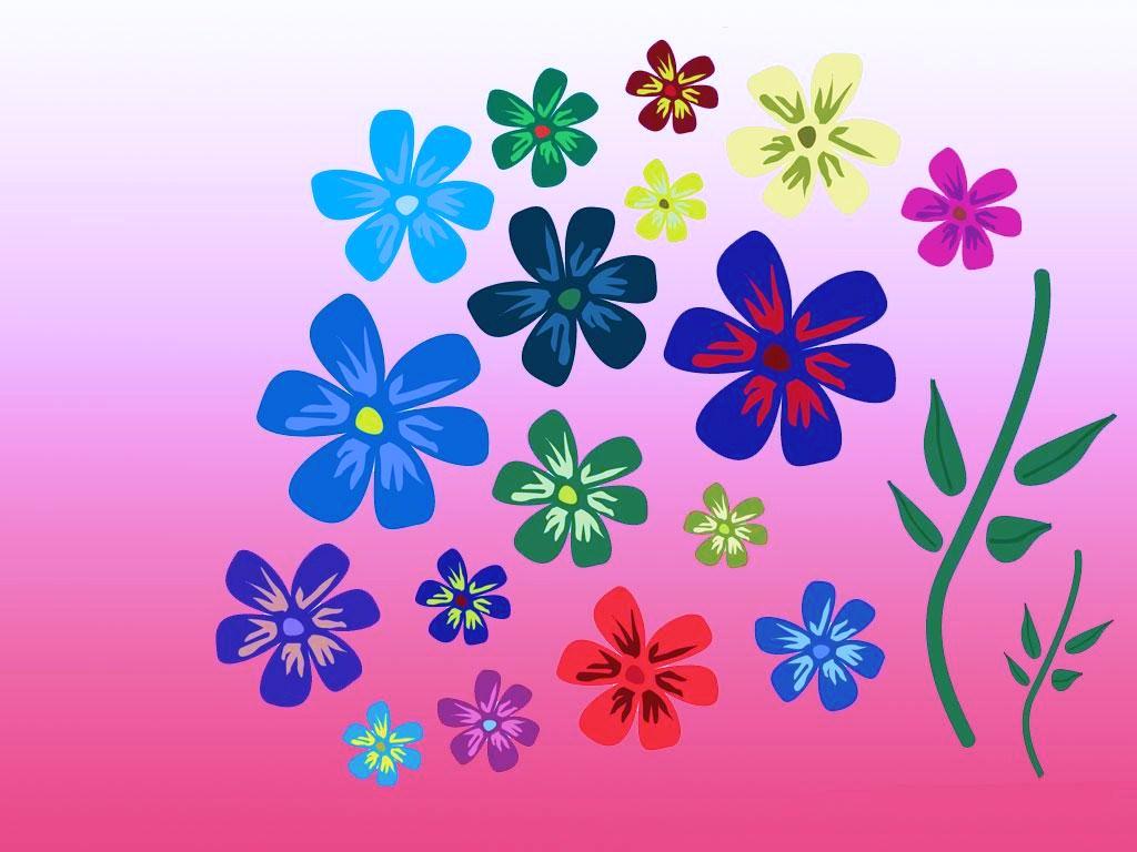 Fondo Primavera álbum Classic Flores Violetas: Fondos Con Estrellas Animadas
