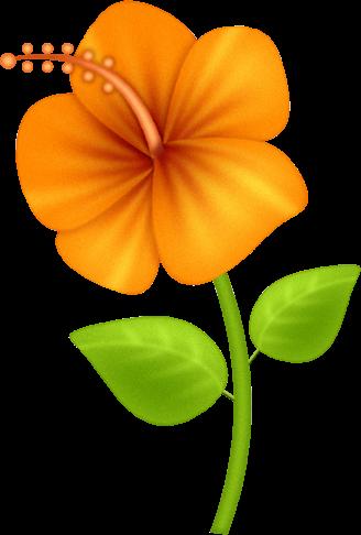 Recursos Infantiles Flores Naranjas