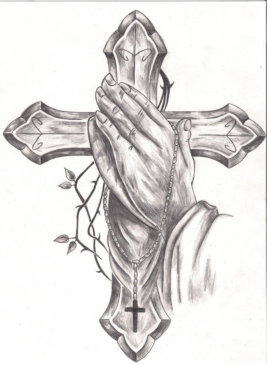 Tattoos: Praying Hands #2