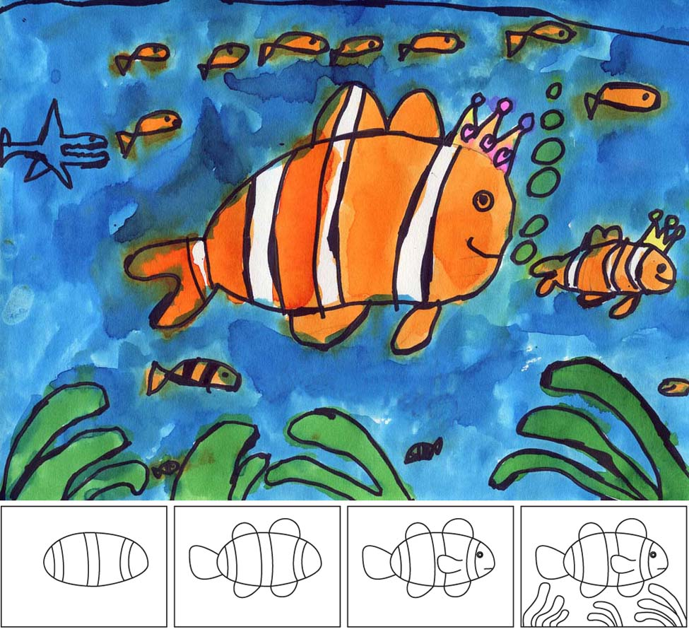 Kids Painted Fish How to Paint a Clown Fish