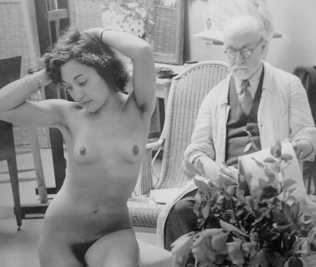 Matisse and nude model