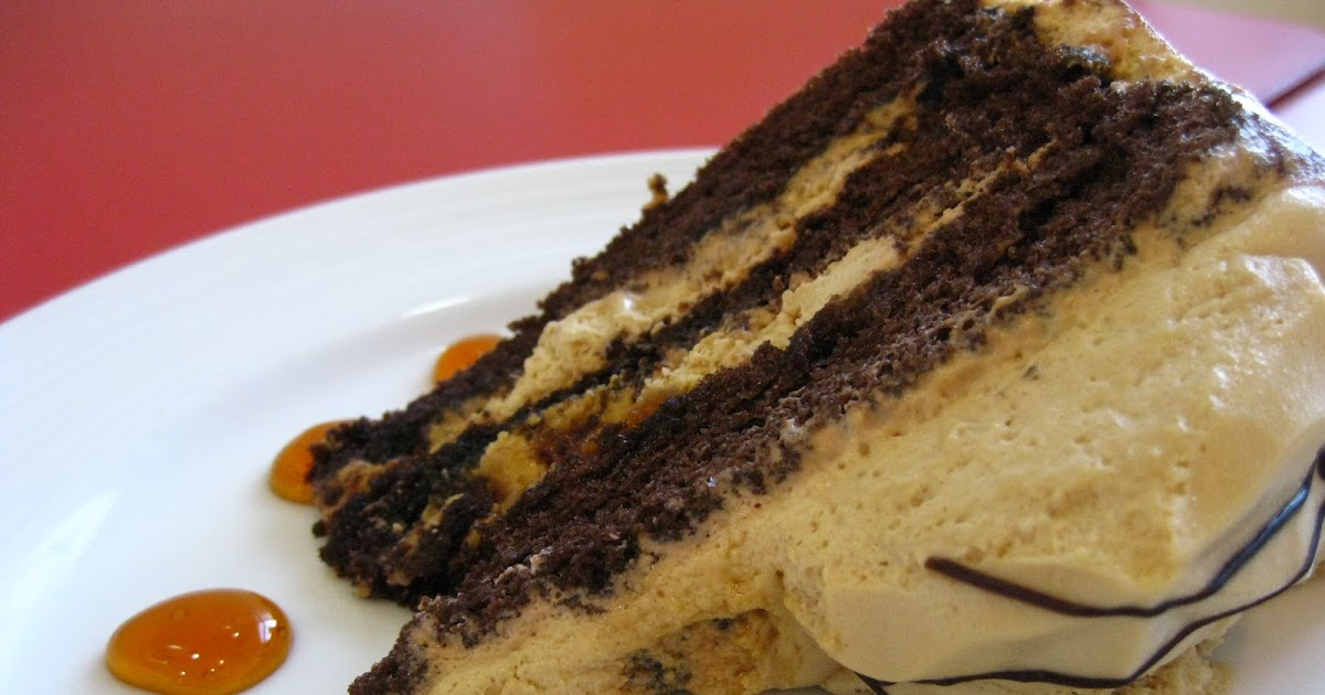 Red Ribbon Mocha Cake