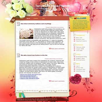 Yes I Do blogger template. template blog from wordpress