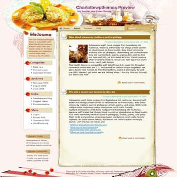 Yemek daha İyi Wordpress blogger şablonu