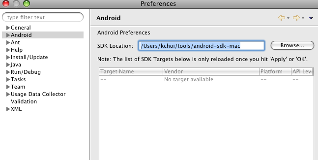 Android programming getting started using Eclipse and MacOS