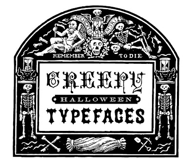 Creepy Halloween Typefaces | Cathe Holden's Inspired Barn