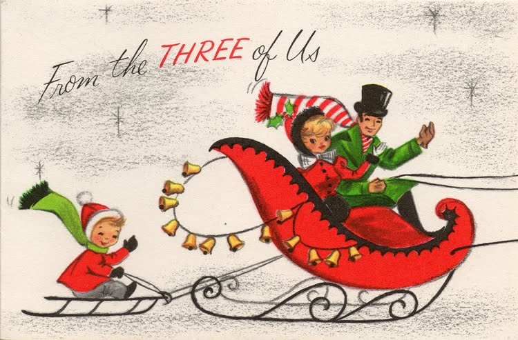 Vintage Family Number Christmas Cards Cathe Holdens