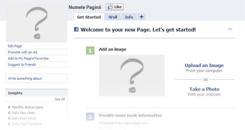 Pagina initiala de Facebook