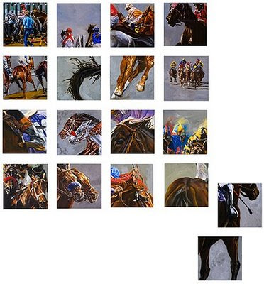 thoroughbred racing art
