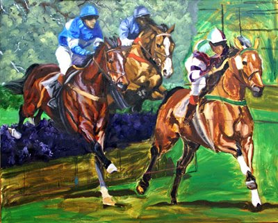 steeplechase painting