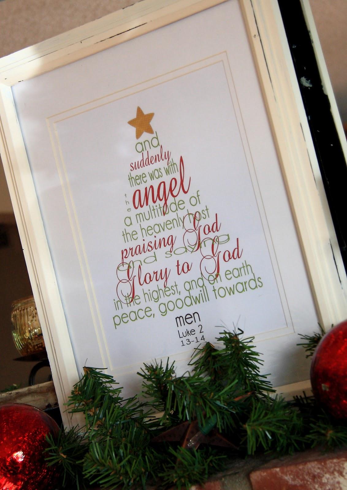 Christmas Scripture Word Tree Printable
