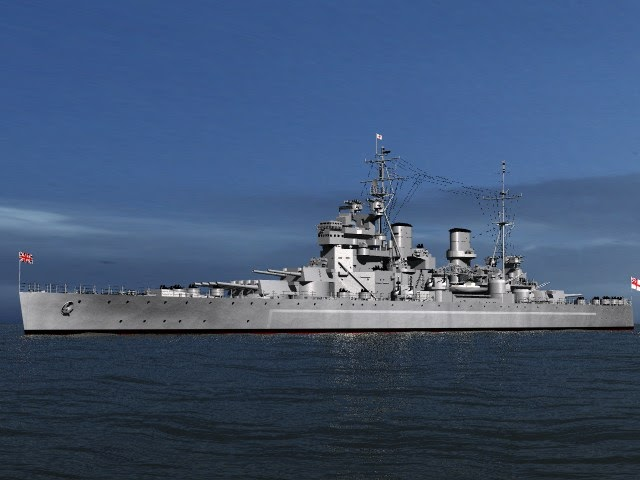 Navy Ship Ww2 Hms Prince Of Wales Battleship Prints