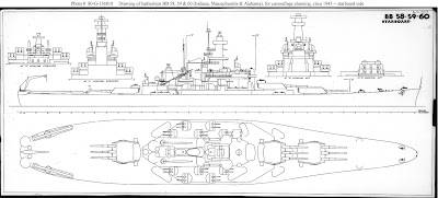 US Navy WW2 Battleship USS Oklahoma Blueprint Plan old