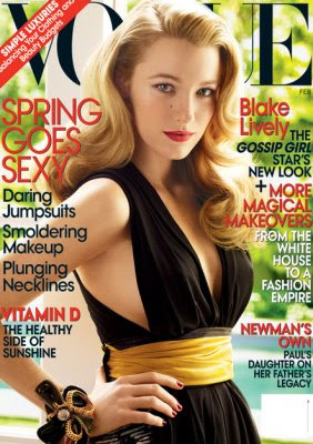 Blake Lively on Vogue February 2009