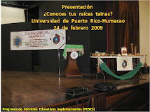 Mini Foro:  UPR-Humacao - Conoces Tus  Raices  Tainas?