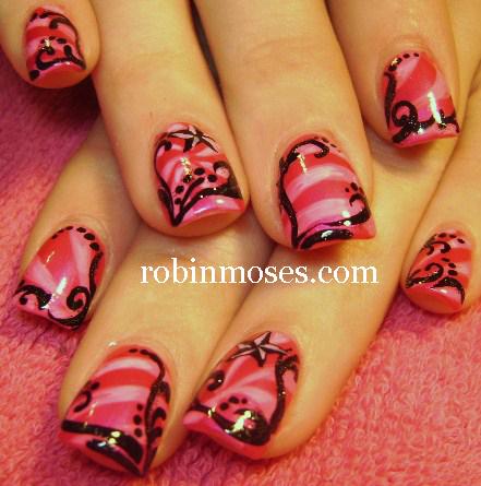 Nail Art By Robin Moses Nail Art Gold Nail Art Eyeshadow Nails