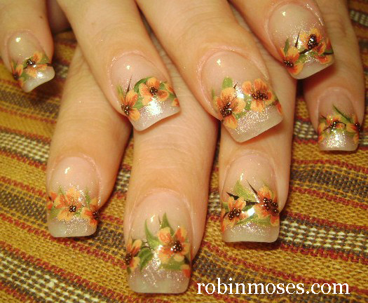 Nail Art By Robin Moses Fall Leaves Fall Leaf Autumn Leaves