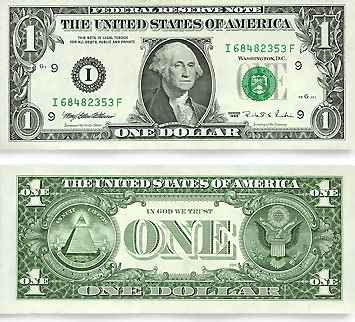 The United States One Dollar Bill