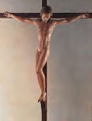 dude crucified naked