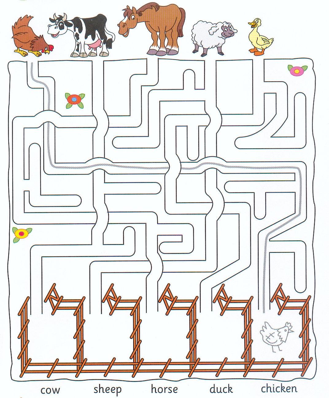 Bilingual Al Yussana Animals Maze