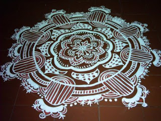 designing of floor by alpona