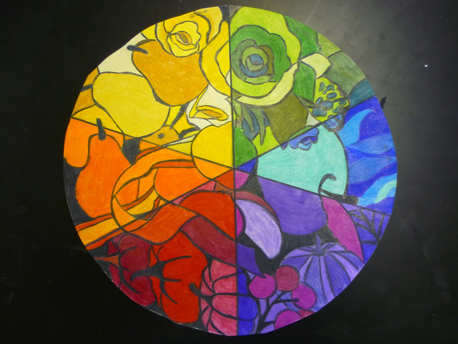 Mrs Highsmith Loves Art Example Of Finished Color Wheel
